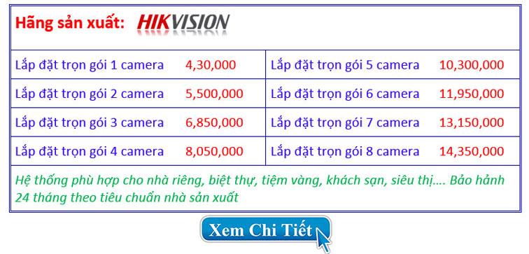 Trọn gói lắp đặt camera 5.0mp