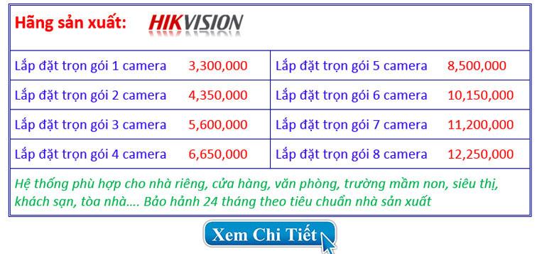 Chi phí lắp đặt trọn bộ hệ thống camera 3.0mp